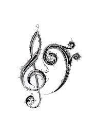 Diseño con signos musicales