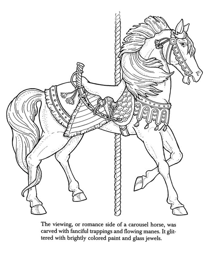 coloring book pages trojan horse | 21 best Coloring Pages: Advanced Carousel Horses images on ...