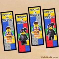 emmet wyldstyle bookmarks FREE Printable LEGO Movie Emmet and Wyldstyle Bookmarks