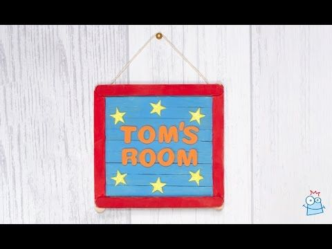 How to make a personalised door sign