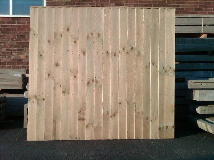 6x5  feather edge fence panels