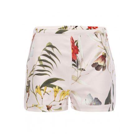 Ted Baker Lichtroze vintage shorts Vazte met botanisch dessin