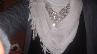 Simple tutorial hijab style with necklace ♥, via YouTube.