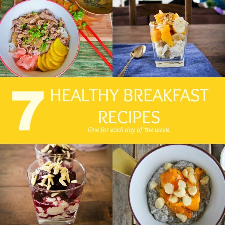 7 healthy breakfasts Recipes to start your day. Chia cups, mango cheesecake cups, Japanese rice, creamy rice pudding, kale smoothie and more. Visit Strayed from the Table for more inspiration recipes.