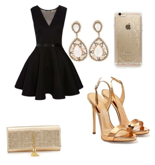 """""""Birthday party"""" by tereza-99 on Polyvore featuring Giuseppe Zanotti, Rifle Paper Co and Yves Saint Laurent"""