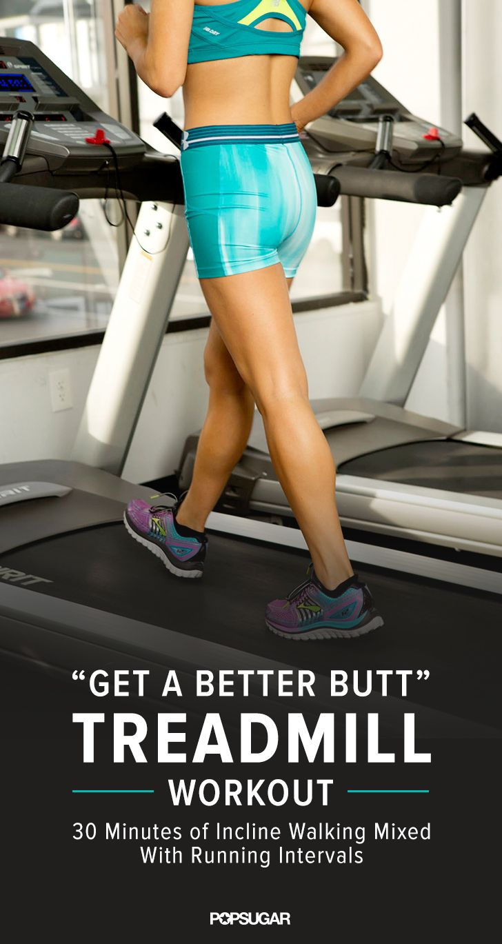 Tone your butt on the treadmill with this 30-minute workout. It mixes incline work with intervals so you burn calories while lifting your backside.