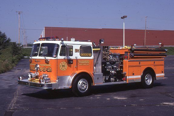 Allegheny Twp PA Engine 99-2 1974 Seagrave Pumper Fire Apparatus Slide