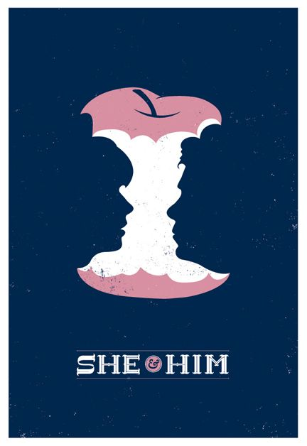 she + him // not that into the band, but check out this poster!