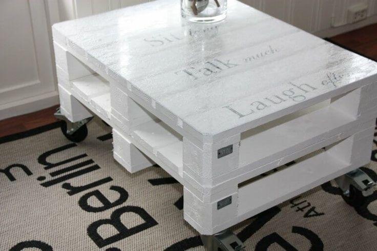 mesa palet lustrada