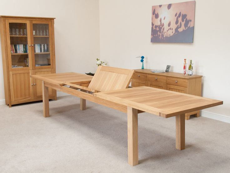 Tallinn large oak 3.8m extending dining table. Made in Europe by European workers ( not Chinese )This is the largest table size in the Tallinn range and is a comfortable 12 seater or 14 seater oak table.We specialise in large tables made primarily from oak so if you are looking for a larger than average sized table to seat a large family with extra guests then we are confident that we can offer something to suit your requirements.Mix and match any chair with any table with no…