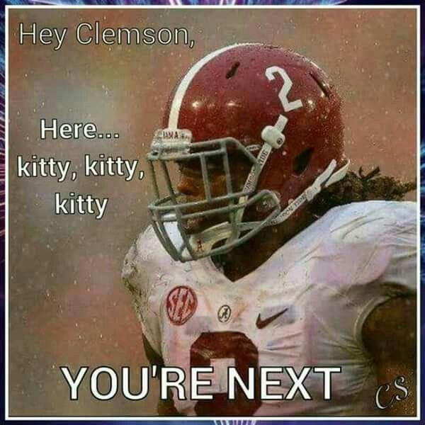 Clemson verses Alabama Football