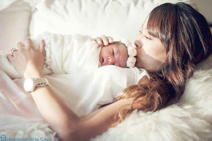 Stylish Baby Girl Nursery - Mom and baby