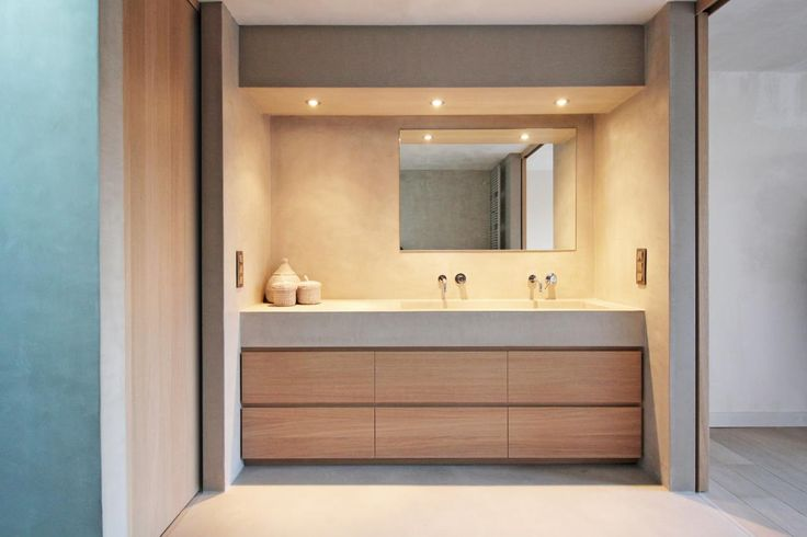 Interieurbouw badkamer met Mortex - MTconstruct - interieurinrichting en exclusief schrijnwerk