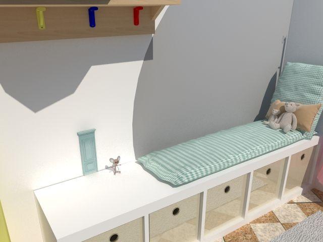 Proyecto para crear un playroom aprovechando todo lo que teníamos en el espacio, creando distintas zonas de juego.