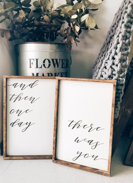 And Then One Day There Was You | Beautiful Rustic Bedroom Decor | Farmhouse Bedroom | Farmhouse Decor | Bedroom Design Ideas | Bedroom Decor | Fixer Upper Style | Joanna Gaines | Farmhouse Style | Farmhouse Sign | Wood Sign | Rustic Sign | Shiplap | Rustic Home Decor
