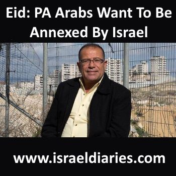 Interviewed at Ariel University, Bassem Eid says that if asked, Arabs in the PA would say they want to Israel to annex Judea and Samaria (the West Bank).
