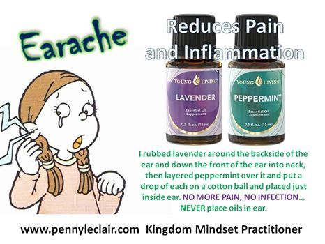 Natural help to ease Earaches #essentialoils www.fb.com/essentialliving180
