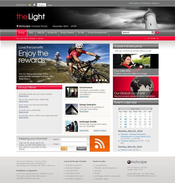 behance inchcape intranet sharepoint - Sharepoint Design Ideas