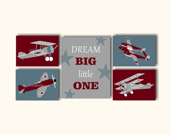 Best 25 airplane wall art ideas on pinterest airplane Vintage airplane decor for nursery