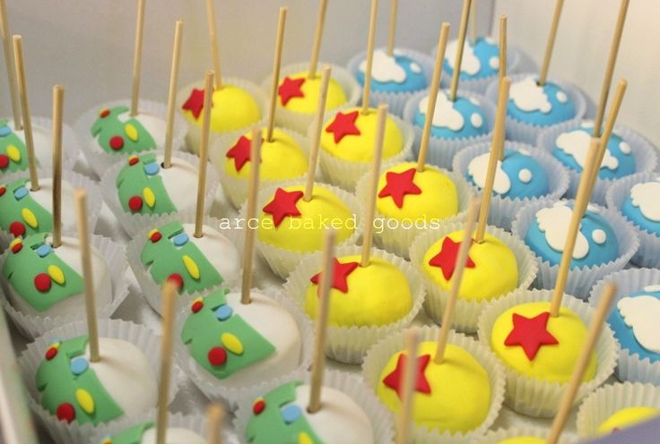 Disney Party Ideas- Toy Story Party Cake pops