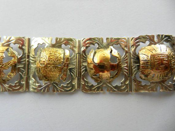 Vintage Industria Peruana 8-Panel Bracelet w/ by RAKcreations