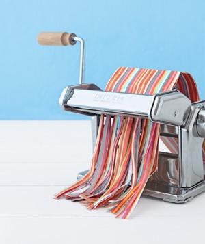 Pasta Maker moonlights as an Artsy Paper Shredder. Fun!