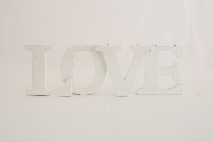 White LOVE sign, can be hung or freestanding. Great on a guestbook table or as a prop on bridal table. $5 To Book Contact theweddingandeventcreators@gmail.com Photos; Shenay Spinelli Photography