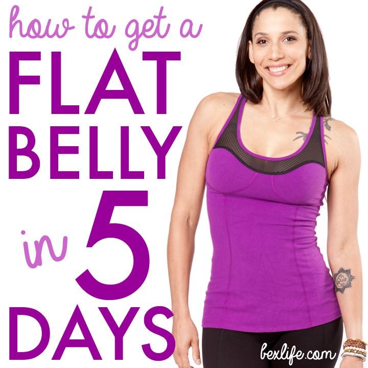 how to get a flat belly in 3 days