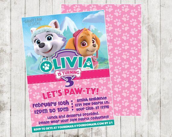 Paw Patrol Birthday Invitation Templates Invitations 1000 Ideas About On