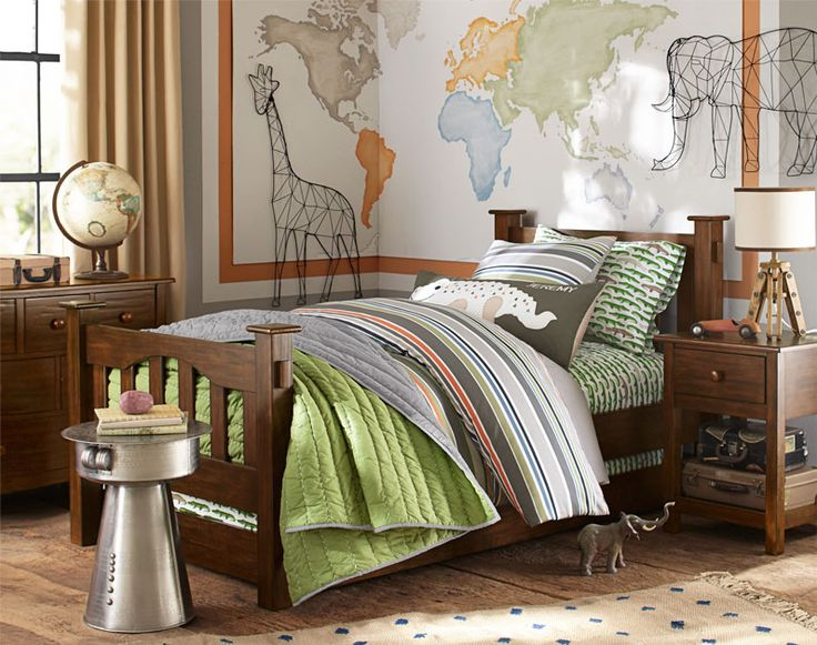 This little boys' room makes every day an adventure inspired by a jungle safari!