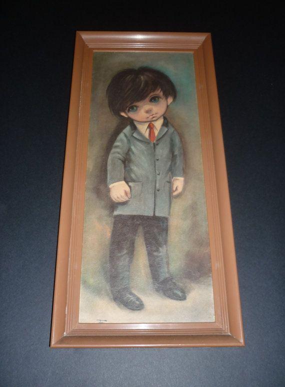 Ozz Franca Big Eyed Child Framed Print 1960 S Boy In