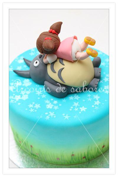 Tarta Totoro y Mei, cake Totoro and Mei