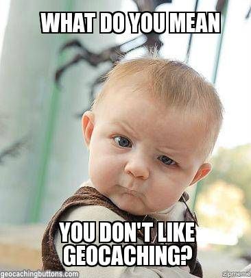 What do you mean you don't like Geocaching? It combines all my favourites - geography, the environment, map skills and exercise.
