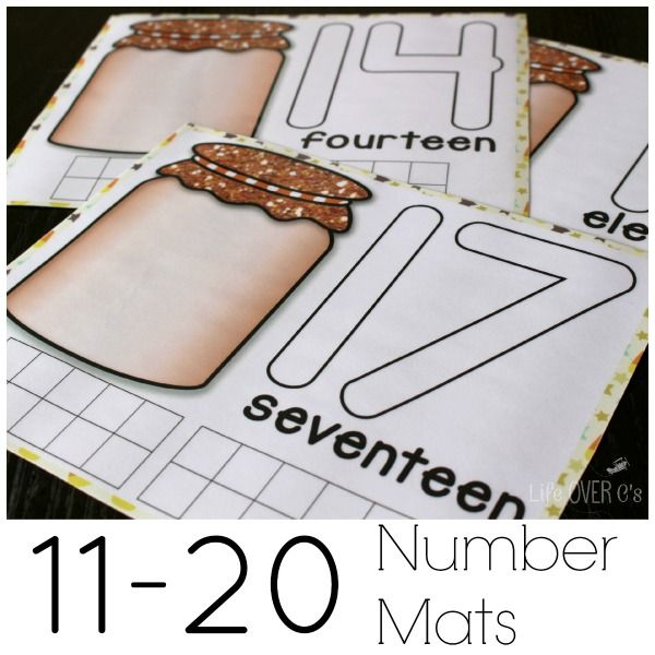 free download fall counting mats - continue number recognition with these!