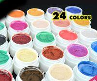 Solid Gel uñas de gel UV color libre del envío 24 del brillo colores de uñas del gel del arte colorido