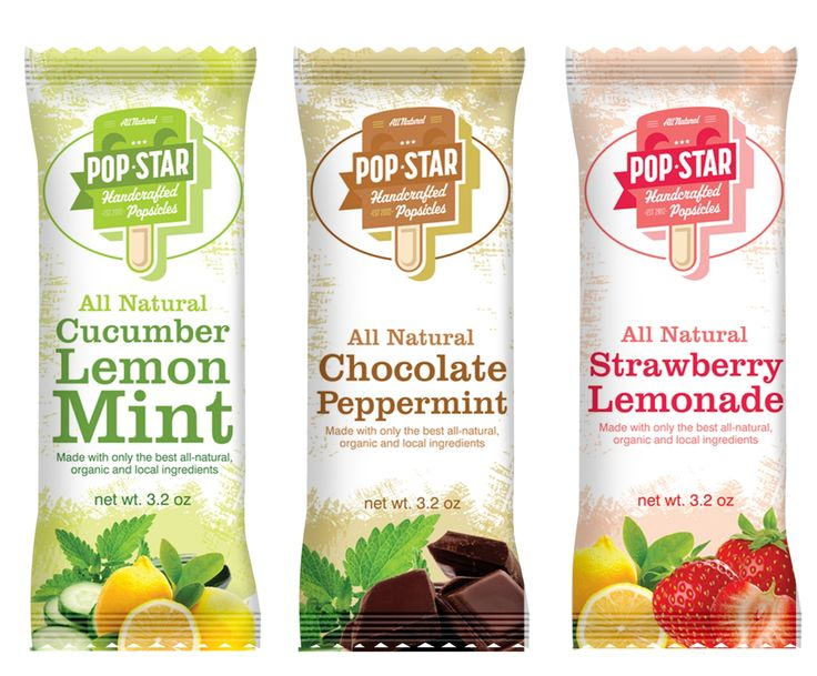 Create the next product packaging for Pop Star Handcrafted Popsicles Product label design #28 by GenScythe