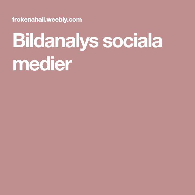 Bildanalys sociala medier