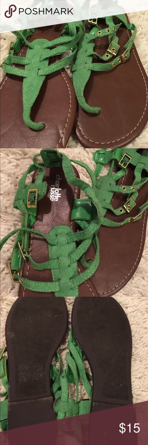 Green sandals Kelly green Charlotte Russe sandals Charlotte Russe Shoes Sandals