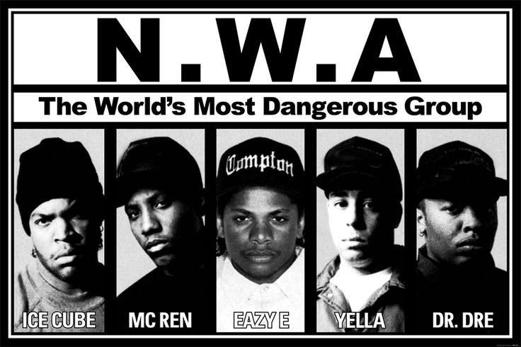 Custom Canvas Art N.W.A Wallpaper Most Dangerous Group Wall Stickers NWA Poster Ice Cube Niggaz With Attitudes Decoration #2496# #Affiliate