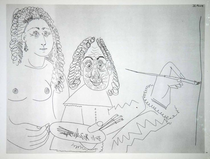 Line Art By Picasso : Best picasso heliograuvre images