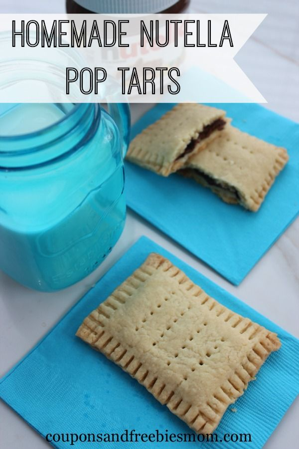 Homemade Nutella Pop Tarts! Do you love #Nutella? Do you love pop tarts? This easy recipe is the perfect blend of nutella and pop tarts. I bet you can't eat just one! Check out this fun and yummy recipe today!