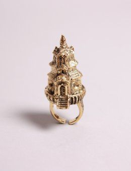 Thai Temple: Cute Rings, Accessories Jewelry, Tall Temple, Rings Architectural, Gold Rings, Castle Rings, Architectural Rings