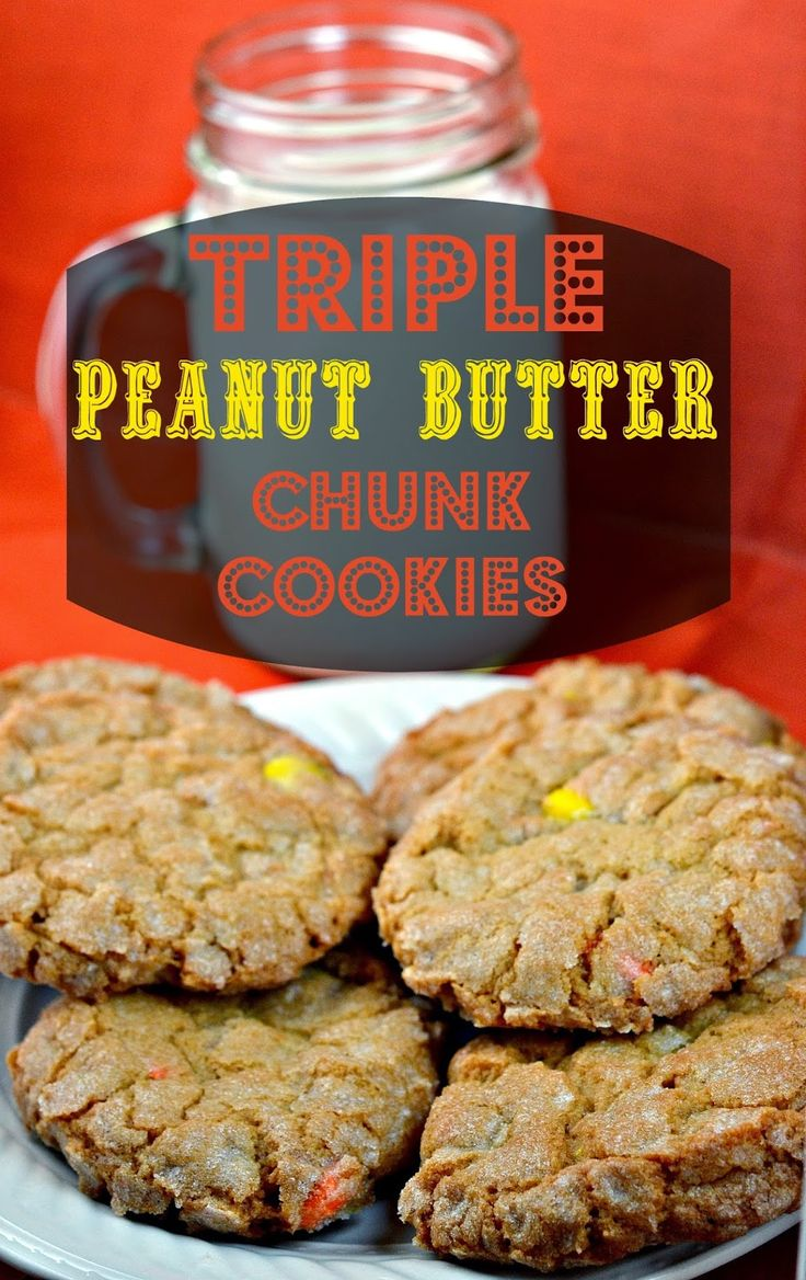 Three different Peanut Butter ingredients in one cookie!!!!