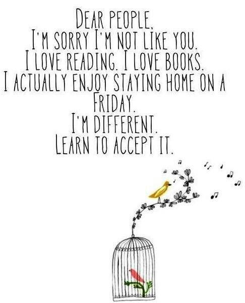 I'm different?