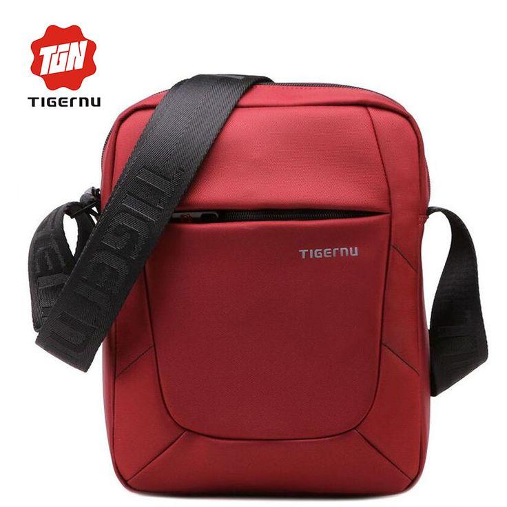2017 New Summer Women Crossbody Bag Casual Bag Tigernu Brand Red Shoulder Bag 10Inch Mini Waterproof Messenger Bags for Men