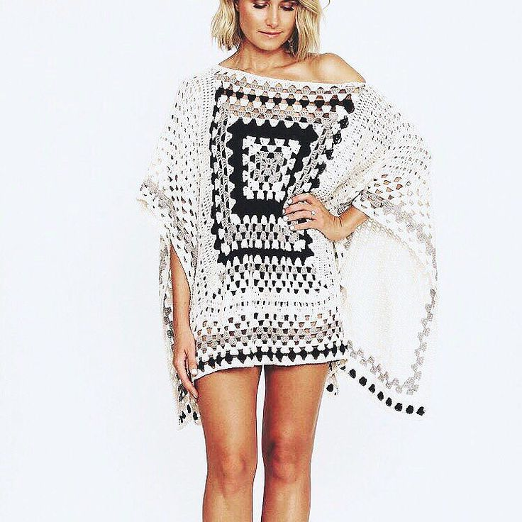 25+ Best Ideas about Granny Square Poncho on Pinterest Crochet poncho, Ponc...