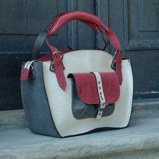 PROMOTIONLeather Shoulder Bag with Clutch Set handmade от ladybuq