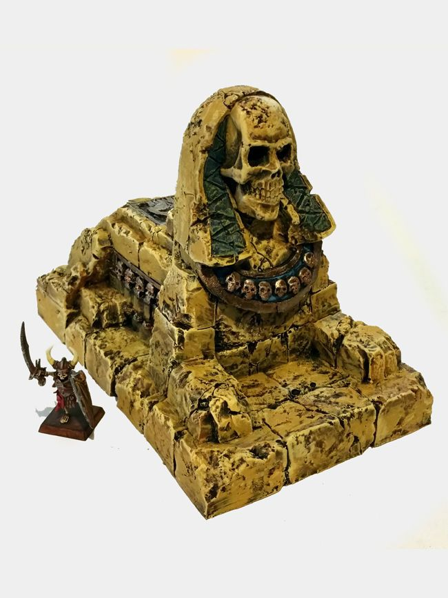 Tomb Kings Warmachine Painted Undead Sphinx terrain for Warhammer