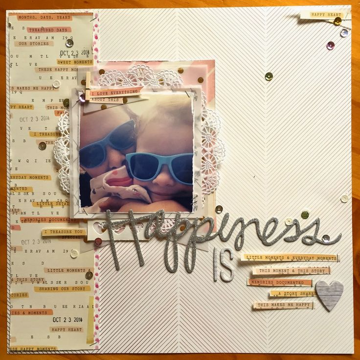 Scrappy Canary: Happiness is... Layout share by Michelle Stokes