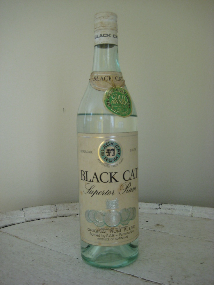 Black Cat Rum uit het medaille jaar
